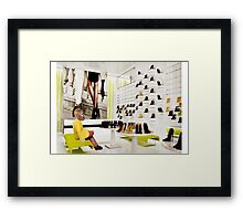 Achilles discovers his true destiny. Framed Print