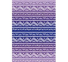 Purple Ombre Abstract Tribal Pattern Photographic Print