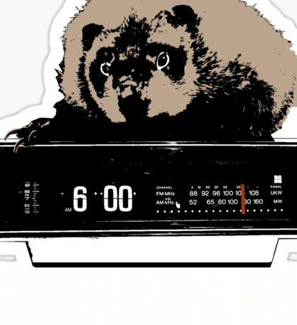 Groundhog Day  Alarm Clock  Punxsutawney Color T-shirt Sticker