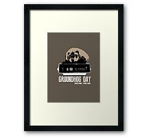 Groundhog Day  Alarm Clock  Punxsutawney Color T-shirt Framed Print