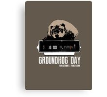 Groundhog Day  Alarm Clock  Punxsutawney Color T-shirt Canvas Print