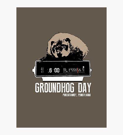 Groundhog Day  Alarm Clock  Punxsutawney Color T-shirt Photographic Print