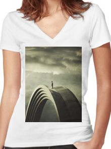 Time manager Women's Fitted V-Neck T-Shirt