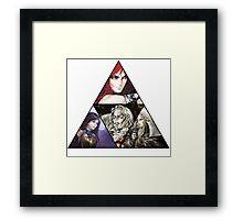 Castlevania Triforce (Alucard, Shanoa, Simon Belmont and Shanoa) Framed Print