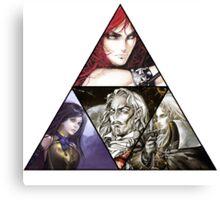 Castlevania Triforce (Alucard, Shanoa, Simon Belmont and Shanoa) Canvas Print