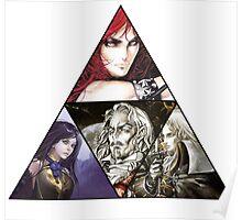 Castlevania Triforce (Alucard, Shanoa, Simon Belmont and Shanoa) Poster