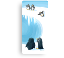Penguin Playground Canvas Print