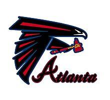 Atlanta falcons braves mash up Photographic Print
