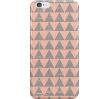 Gray and Salmon Triangles Pattern iPhone Case/Skin