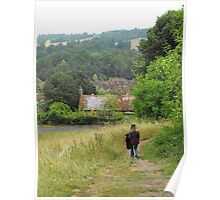 Cottage Path Poster