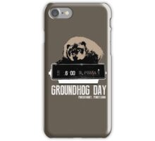 Groundhog Day  Alarm Clock  Punxsutawney Color T-shirt iPhone Case/Skin