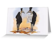Vulture Times Greeting Card