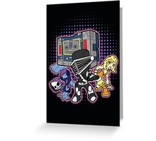 Old Skool 80s Cartoon B Boys (and girl) Greeting Card