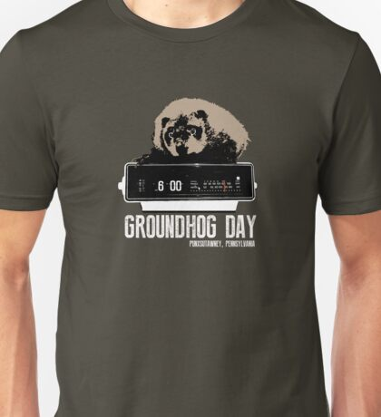 Groundhog Day  Alarm Clock  Punxsutawney Color T-shirt Unisex T-Shirt