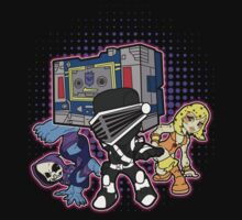 Old Skool 80s Cartoon B Boys (and girl) Kids Tee