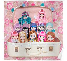 Blythes in a vintage suitcase - what more do you need? ;) Poster