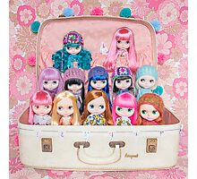 Blythes in a vintage suitcase - what more do you need? ;) Photographic Print
