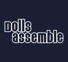 Dolls Assemble! (white) Kids Tee