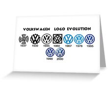 Volkswagen Logo Evolution Greeting Card