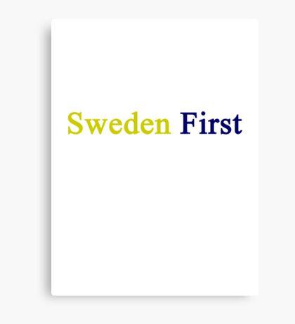 Sweden First  Canvas Print