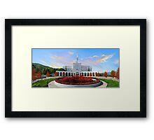 Bountiful Utah Temple - Above the Tree 32x16 Framed Print