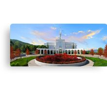 Bountiful Utah Temple - Above the Tree 32x16 Canvas Print