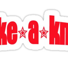 Take a Knee (red lettering) Sticker