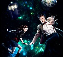 Amy and The Doctor in Space by ruledbycrowley
