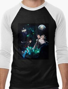 Amy and The Doctor in Space Men's Baseball ¾ T-Shirt