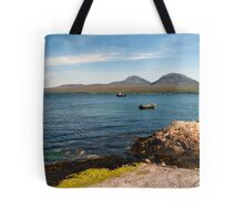 The Paps of Jura across the Sound of Islay Tote Bag