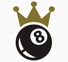 Eight ball billiards crown Kids Clothes