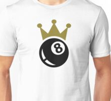 Eight ball billiards crown Unisex T-Shirt