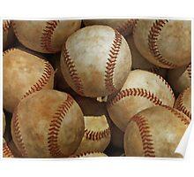 Vintage Digital Baseball Artwork Poster