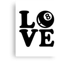Billiards love Canvas Print