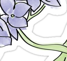 Hydrangea Blue Sticker