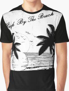 High By The Beach (Black & White) Graphic T-Shirt