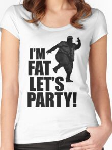 #i'm fat let's party! Women's Fitted Scoop T-Shirt