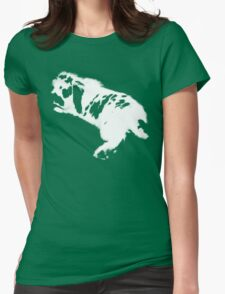 Rabbit White Womens Fitted T-Shirt