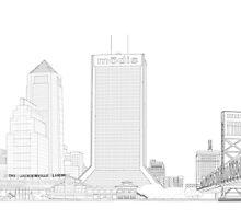 Jacksonville Skyline  by Neema Fallon