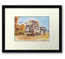 Uncomfortable taxi Framed Print