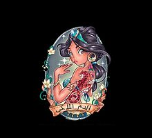 Disney Aladdin Jasmine Tattoo by N1K0VE