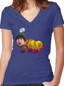 jontron 2: wiggler rises Women's Fitted V-Neck T-Shirt