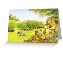 Golfers are tough Greeting Card