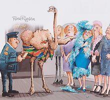 Naked ostrich by RoseRigden