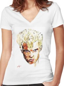 Billy Idol  Women's Fitted V-Neck T-Shirt