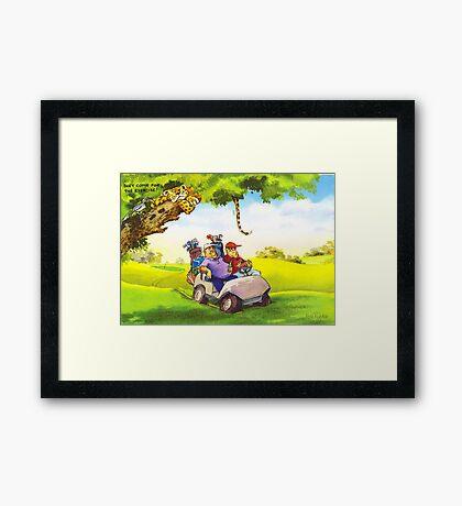 Fat Golfers Framed Print