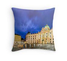 Michaelerplatz in Vienna, Austria Throw Pillow