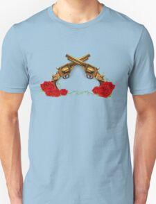 Gun With Roses T-Shirt