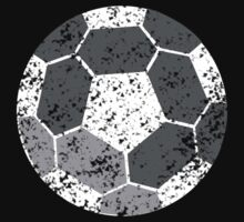 Soccer Ball with distressed look Kids Tee