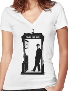 Come on Then - Dr Who Women's Fitted V-Neck T-Shirt
